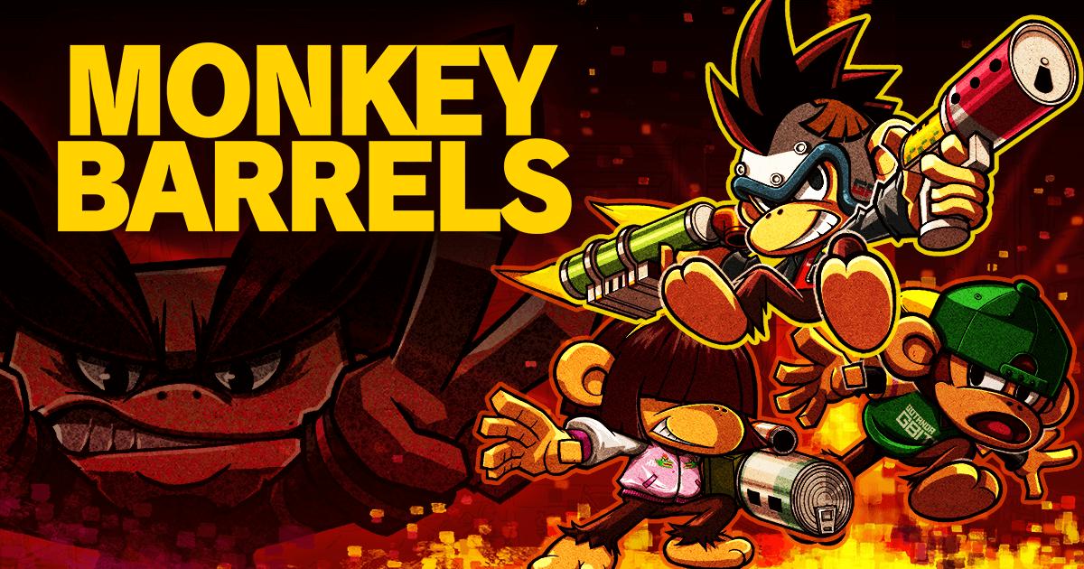 Nintendo Switch用ソフト『MONKEY BARRELS(モンキーバレルズ)』本日発売!